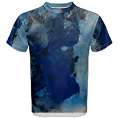 Blue Abstract No 2 Men s Cotton Tees
