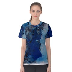Blue Abstract No 2 Women s Cotton Tees