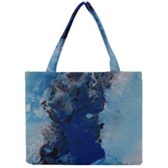 Blue Abstract No.2 Tiny Tote Bags