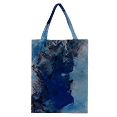 Blue Abstract No.2 Classic Tote Bags