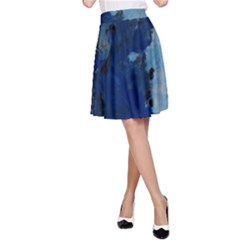 Blue Abstract No 2 A Line Skirts