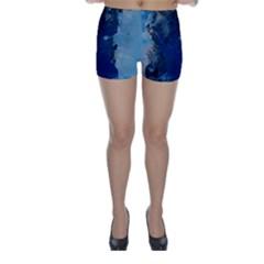Blue Abstract No.2 Skinny Shorts