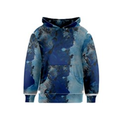 Blue Abstract No.2 Kid s Pullover Hoodies
