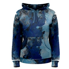 Blue Abstract No.2 Women s Pullover Hoodies