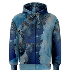 Blue Abstract No.2 Men s Zipper Hoodies