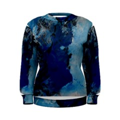 Blue Abstract No.2 Women s Sweatshirts