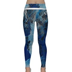 Blue Abstract No.2 Yoga Leggings