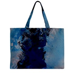 Blue Abstract No 2 Zipper Tiny Tote Bags