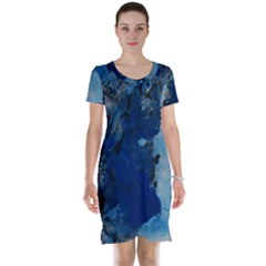 Blue Abstract No.2 Short Sleeve Nightdresses
