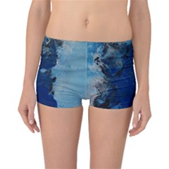 Blue Abstract No.2 Boyleg Bikini Bottoms