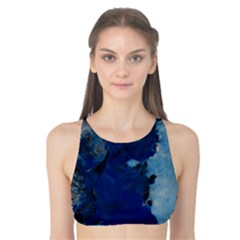Blue Abstract No.2 Tank Bikini Top