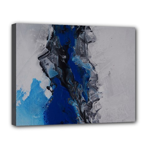 Blue Abstract No 3 Canvas 14  X 11