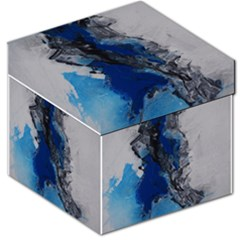 Blue Abstract No.3 Storage Stool 12