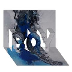 Blue Abstract No.3 BOY 3D Greeting Card (7x5)