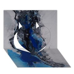 Blue Abstract No.3 Heart 3D Greeting Card (7x5)