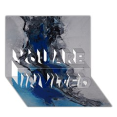 Blue Abstract No.3 YOU ARE INVITED 3D Greeting Card (7x5)