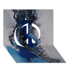 Blue Abstract No.3 Peace Sign 3D Greeting Card (7x5)