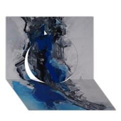 Blue Abstract No.3 Circle 3D Greeting Card (7x5)