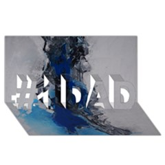 Blue Abstract No 3 #1 Dad 3d Greeting Card (8x4)