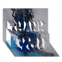 Blue Abstract No.3 THANK YOU 3D Greeting Card (7x5)