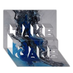 Blue Abstract No.3 TAKE CARE 3D Greeting Card (7x5)