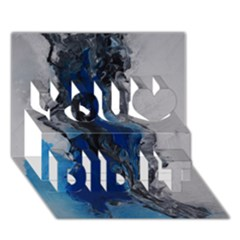 Blue Abstract No 3 You Did It 3d Greeting Card (7x5)