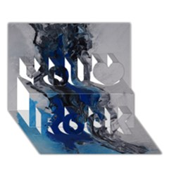 Blue Abstract No.3 You Rock 3D Greeting Card (7x5)