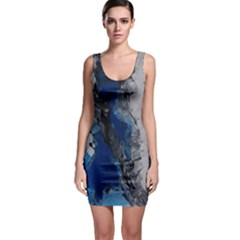 Blue Abstract No.3 Bodycon Dresses