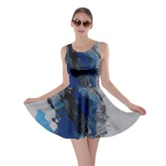 Blue Abstract No.3 Skater Dresses