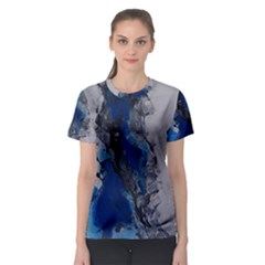 Blue Abstract No.3 Women s Sport Mesh Tees