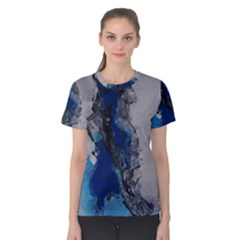 Blue Abstract No 3 Women s Cotton Tees
