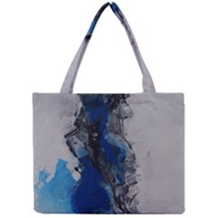 Blue Abstract No.3 Tiny Tote Bags