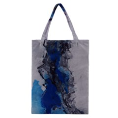 Blue Abstract No 3 Classic Tote Bags