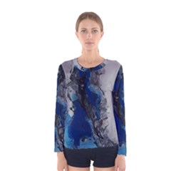 Blue Abstract No.3 Women s Long Sleeve T-shirts