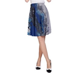 Blue Abstract No.3 A-Line Skirts