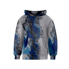 Blue Abstract No.3 Kid s Pullover Hoodies