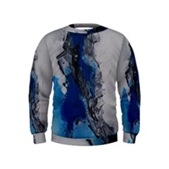 Blue Abstract No 3 Boys  Sweatshirts