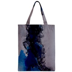 Blue Abstract No.3 Zipper Classic Tote Bags