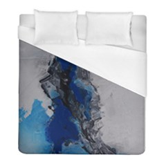 Blue Abstract No 3 Duvet Cover Single Side (twin Size)