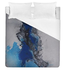 Blue Abstract No 3 Duvet Cover Single Side (full/queen Size)