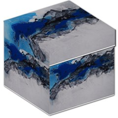 Blue Abstract No.4 Storage Stool 12