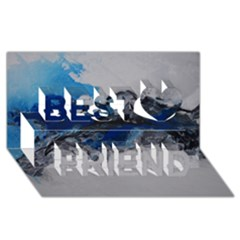 Blue Abstract No 4 Best Friends 3d Greeting Card (8x4)