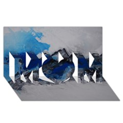 Blue Abstract No.4 MOM 3D Greeting Card (8x4)