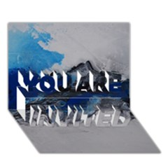 Blue Abstract No.4 YOU ARE INVITED 3D Greeting Card (7x5)