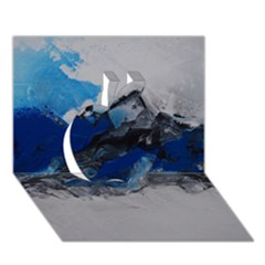 Blue Abstract No.4 Apple 3D Greeting Card (7x5)