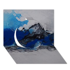 Blue Abstract No.4 Circle 3D Greeting Card (7x5)