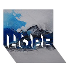 Blue Abstract No.4 HOPE 3D Greeting Card (7x5)