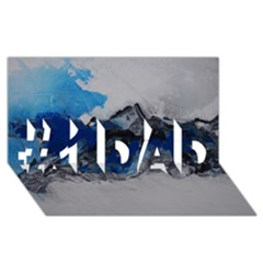 Blue Abstract No.4 #1 DAD 3D Greeting Card (8x4)