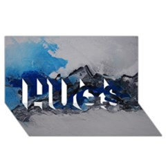 Blue Abstract No.4 HUGS 3D Greeting Card (8x4)