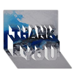 Blue Abstract No.4 THANK YOU 3D Greeting Card (7x5)
